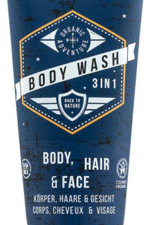 Benecos For Men Only Body Wash 3in1 Lichaam/Haar/Gezicht Tube 200ml