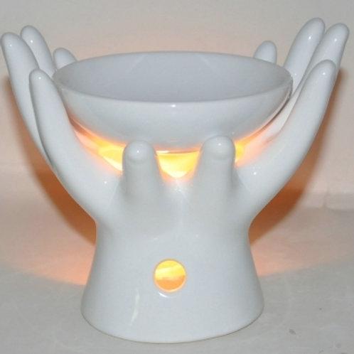 Oil Burner Hand White