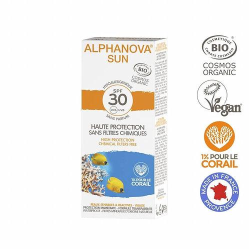 Alphanova Sun - Bio SPF30 Allergische gevoelige huid