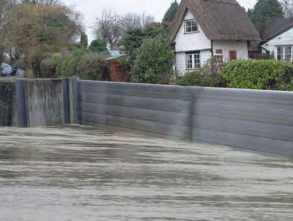 Hochwasserschutz Dammbalkensystem