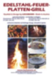 Edelstahl-Feuerplattengriller
