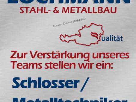 Zur Verstärkung unseres Teams stellen wir einen Schlosser/Metalltechniker ein: