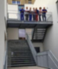 Das Montageteam der Firma Lochmann