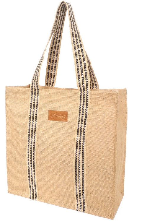 Coated Jute Grocery Tote