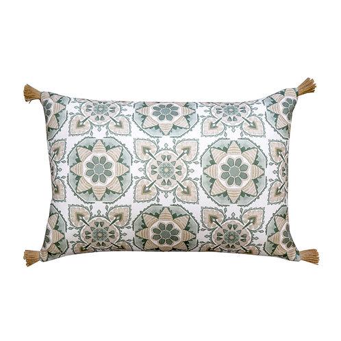 Tile Green Cushion Lumbar