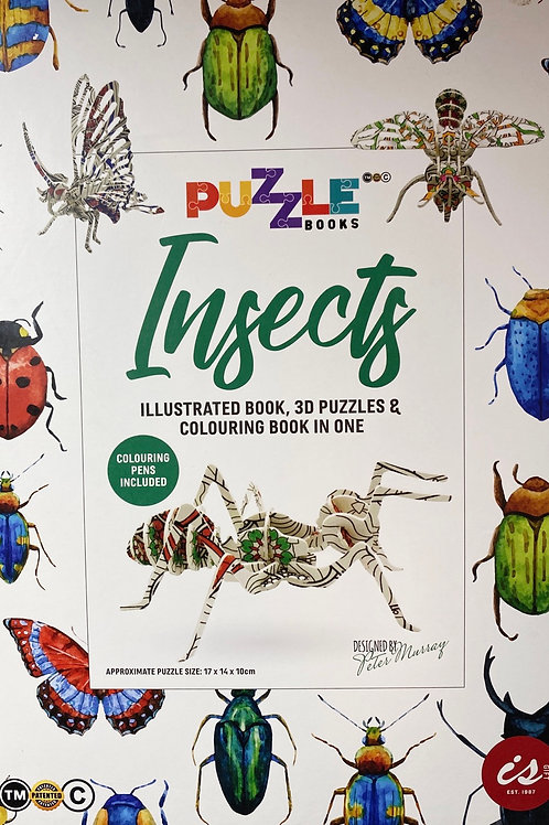 Insects puzzle book