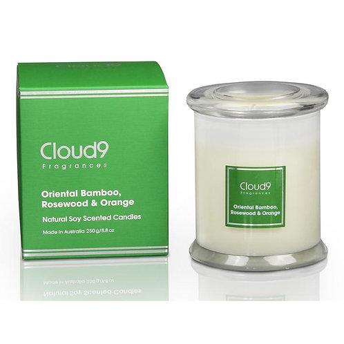 Cloud 9 Candle Jar - Oriental Bamboo, Rosewood & Orange