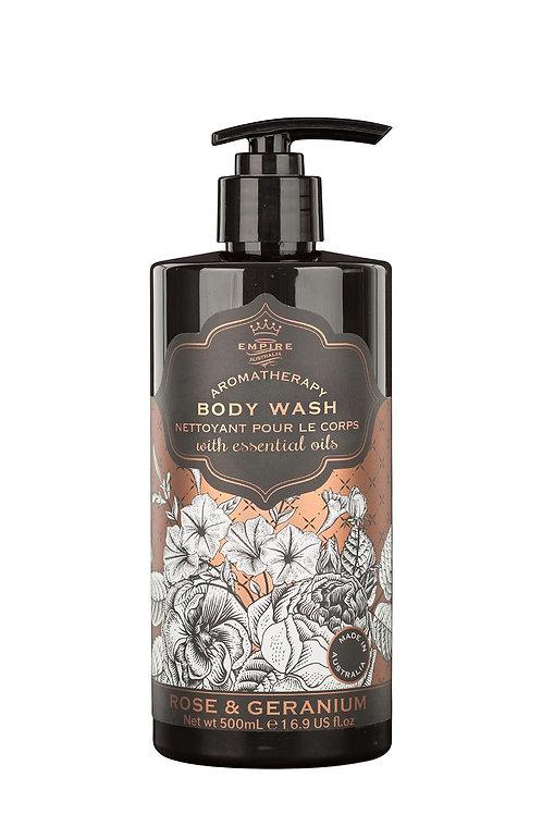 Rose & Geranium Body Wash 500ml
