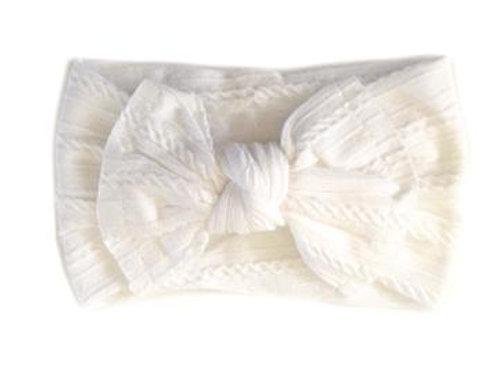 Sister Bows Baby Headband White