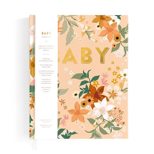 Fox and Fallow Baby Book floral