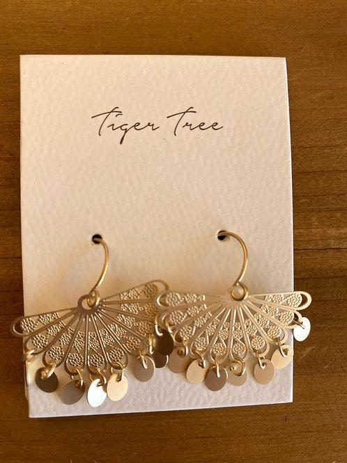 Fan Tinkled Earring Gold