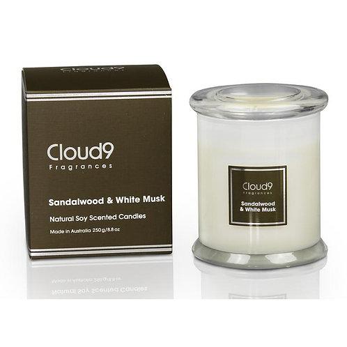 Cloud 9 Candle Jar - Sandalwood & White Musk