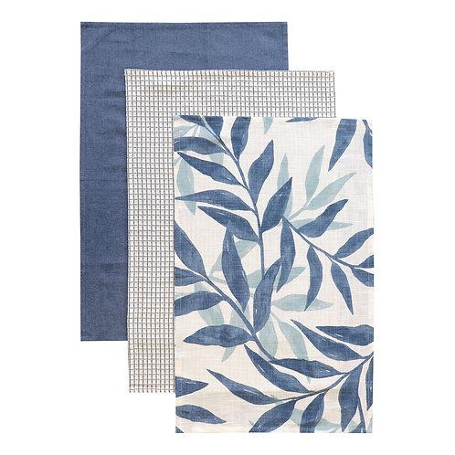 Tea Towel set 3 Sorrento Blue