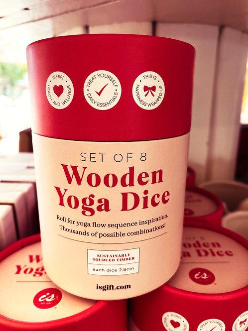 Wooden Yoga Dice