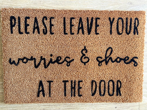 Worries and Shoes doormat