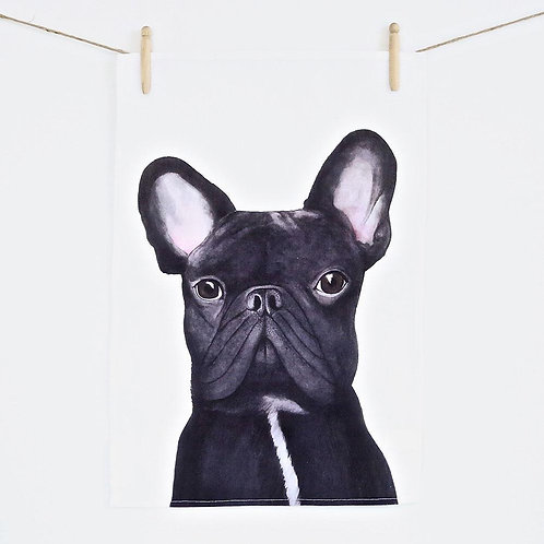 Gilbert the French Bulldog Teatowel