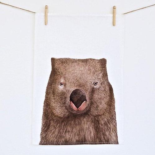 Winston the Wombat Teatowel
