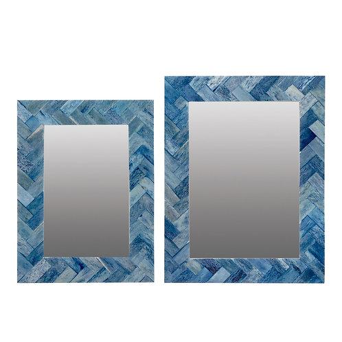 Avoca Blue Bone Inlay Frame