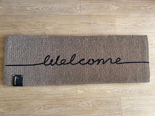 Long Welcome Doormat grey