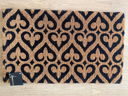 Fleur pattern doormat