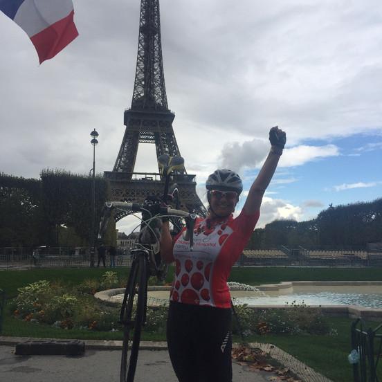 Sue London to Paris cycle