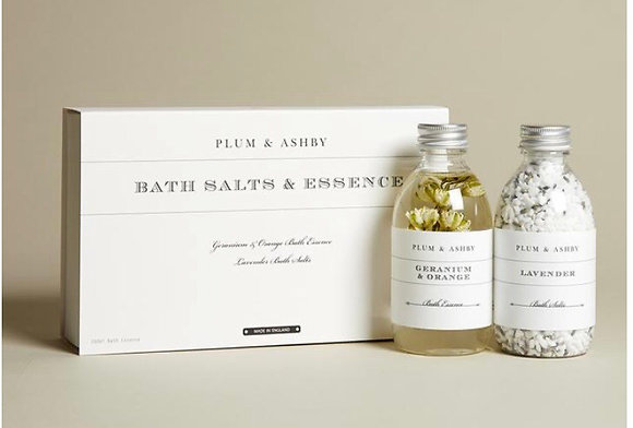 Plum & Ashby Bath Salts & Essence Gift Set