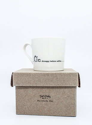East of India Boxed Mug - Stroppy Before Coffee