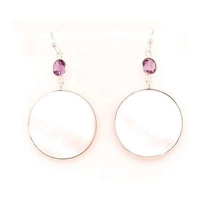Gem Bazaar Full Moon Earrings