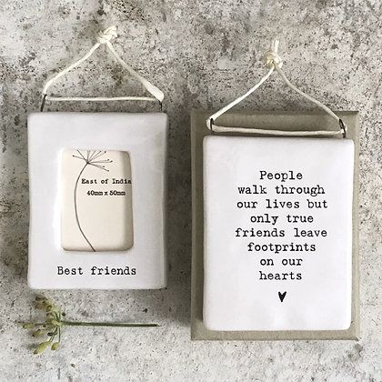 East Of India Mini Hanging Frame 'Best Friends'