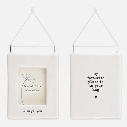 East of India Mini Hanging Frame 'Always You'