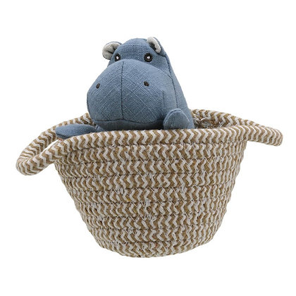Wilberry Blue Hippo in Basket