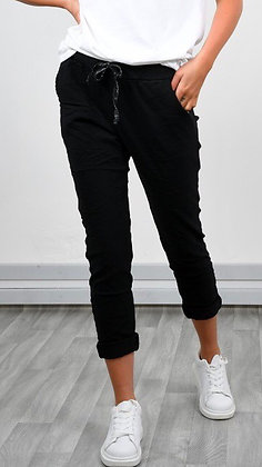 Black Stretch Trousers