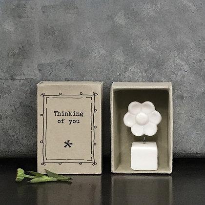 East Of India Matchbox Porcelain Flower