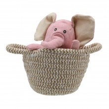 Wilberry Pink Elephant in Basket