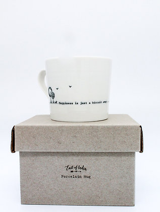East of India Boxed Mug - Happiness Is Only A Biscuit Away