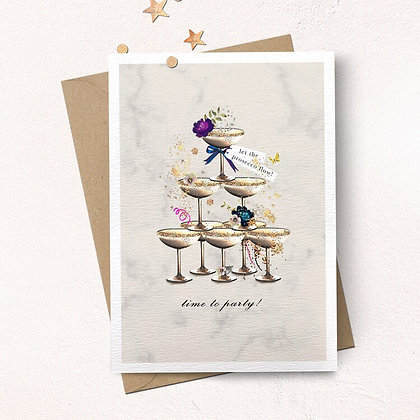 Time to Party Prosecco Card