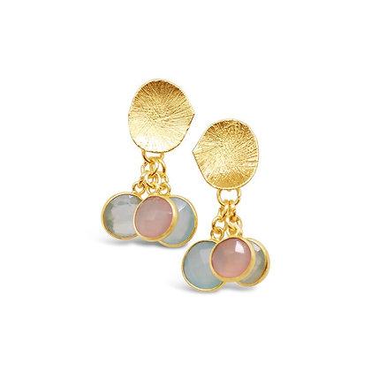 Gem Bazaar Triptych Earrings