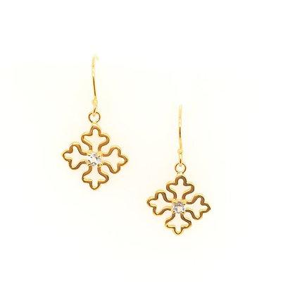 Gem Bazaar Blue Topaz earrings