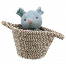 Wilberry Blue Bear in Basket