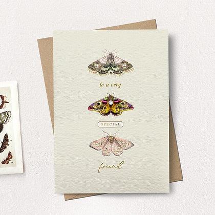 Very Special Friend Moths Card