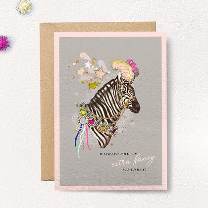 Extra Fancy Zebra Card