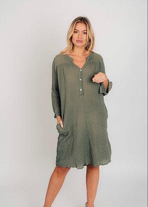 Suzy D Crinkle Cotton Dress