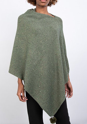 Poncho with sparkle gem detail