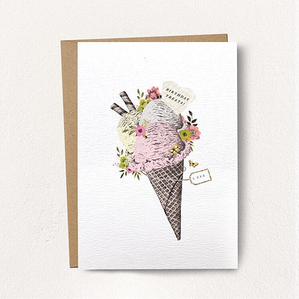 Birthday Treats Ice Cream Card