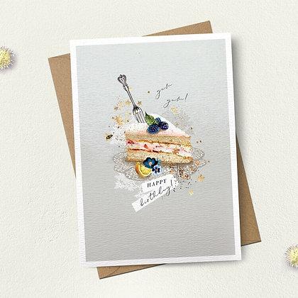 Happy Birthday Cake Slice Card