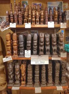 Hand Carved Tiki's