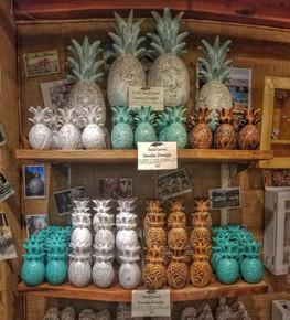 Hand Carved Hawaiian Pineapples