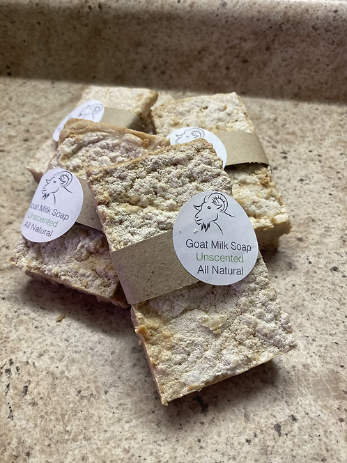 Unscented goat milk soap - large cookie addition