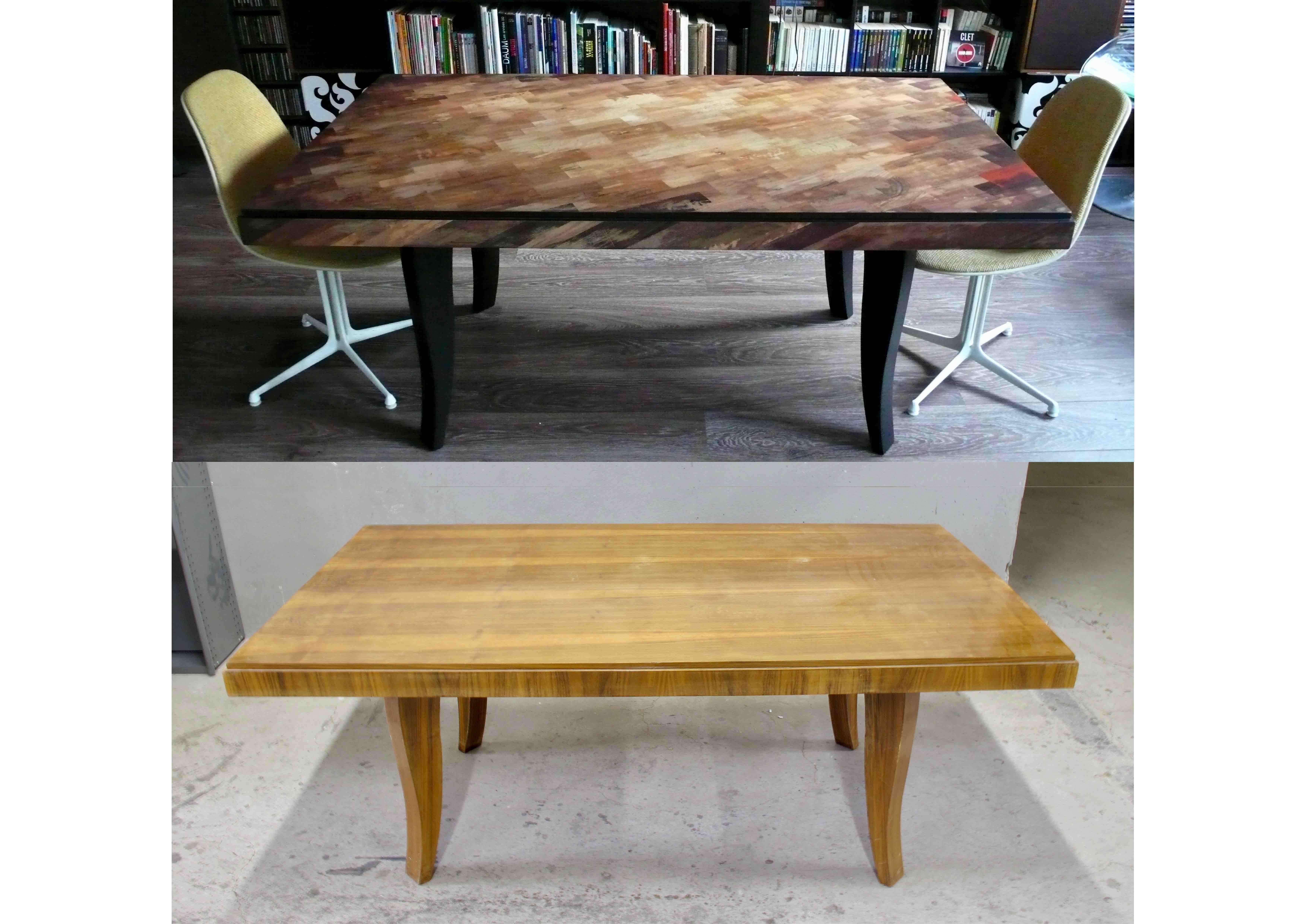 Table customisée sur commande.