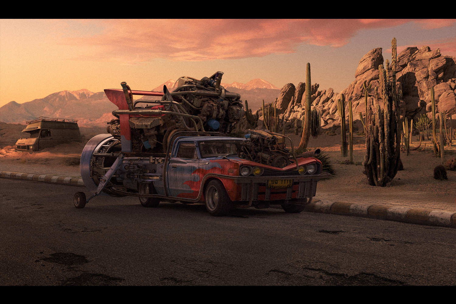 Turbo Car - Personal Matte Painting